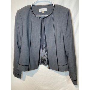 Calvin Klein gray women's collarless blazer. 8(P)